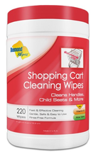 "Picture of item 223-302 a Diamond Wipes Shopping Cart Cleaning Wipes.  7"" x 5.75"".  220 Wipes/Canister."
