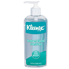 Picture of item 889-568 a KLEENEX® Instant Hand Sanitizer.  8 oz. Pump Bottle.  Clear.  Sweet Citrus Fragrance.  12 Bottles/Case.