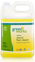 Picture of item 601-201 a Green Works® Naturally Derived Neutral Floor Cleaner Concentrate.  128 oz. Bottle.