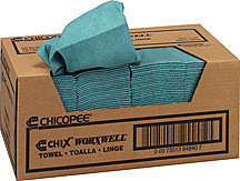 "Picture of item 351-403 a Chix® Worxwell® Towel.  Heavy Duty.  13"" x 15"".  Blue Color."