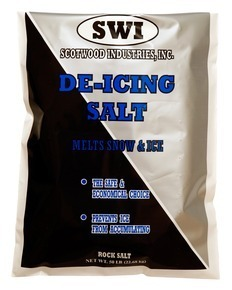 Picture of item 625-501 a De-Icing Rock Salt.  Melts Snow and Ice.  50 lb. Bag.  50 Bags/Pallet.