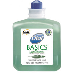 Picture of item 670-217 a Dial Basics HypoAllergenic Foaming Hand Soap. 1 Liter. Honeysuckle fragrance.