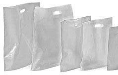 "Picture of item 705-201 a High-Density Plastic Bag.  8-1/2"" x 11"".  White Color."