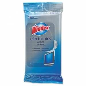 Picture of item 966-109 a Windex Electronics Cleaner Wipes.  25 Wipes/Box.