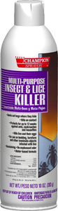 Picture of item 630-302 a CHAMPION LICE KILLER AEROSOL 12/10 OZ. WATER BASED BUG KILLER 16 OZ CAN.