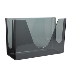 Picture of item 967-486 a Georgia Pacific C-Fold or Multifold Countertop Towel Dispenser. High impact plastic construction, smoke color. 6 EACH PER MASTER CASE.  MUST PURCHASE IN INCREMENTS OF 6 EA.