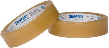 "Picture of item 429-207 a Transparent Packaging Tape. 0.5"" x 72 yards. Cellulose film. Biodegradable, hand-tearable. For industrial and retail use. 144 rolls/cs."