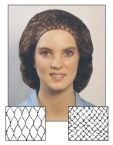 Picture of item 973-229 a Hair Net. Black. Lightweight nylon. Fire retardant. 10 boxes of 144 each.