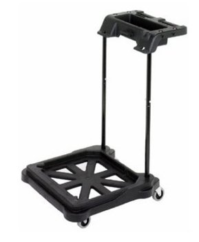 "Continental Commercial ErgoWorx Touchless MicroTek Trolley For SYS-5 System. Black. 7"" x 23.5"" x 24.5"". Open Frame."