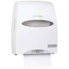 Picture of item 967-223 a KIMBERLY-CLARK PROFESSIONAL* WINDOWS* SANITOUCH* Roll Towel Dispenser, 12 3/5 x 10 1/5 x 16 1/10, White
