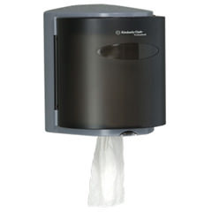 Kimberly Clark Professional* Roll Control Center-Pull Towel Dispenser. Smoke color.