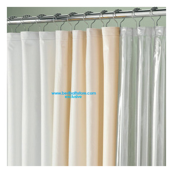 Picture of item 967-532 a Extra Long Waterproof Vinyl Shower Curtain Liner. 72 X 78 in. 5 gauge. Bone color.