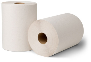 Picture of item 871-396 a EcoSoft® Controlled Roll Towels. 8 in X 425 ft. Natural White. 12 rolls.