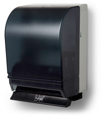 Picture of item 892-402 a Silhouette® Universal-Use Roll Towel Dispenser.  10 5/8 X 15 3/4 X 8 3/4 in. Translucent Black.