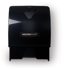 Picture of item 976-603 a Silhouette® Grizzly® Pull and Tear Controlled-Use Roll Towel Dispenser.  Black Translucent.