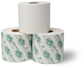 "Picture of item 969-422 a EcoSoft™ Universal-Use Bath Tissue.  4"" Wide x 4-1/2"".  1-Ply.  1,500 Sheets/Roll."