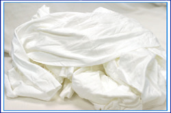 Picture of item 879-107 a White Cotton Cloth Reclaimed T-shirt Rags 50# box