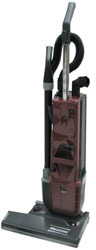 "Picture of item 966-592 a Minuteman® Phenom 18 Upright Vacuum - 18"". Dust bag volume: 1 gal.; Cable length: 50'. Vac motor: 1 hp; Brush motor: 1/4 hp; RPM: 5000."