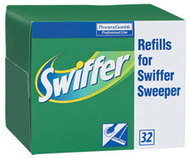 Picture of item 601-707 a Swiffer® Sweeper Refill Cloths.  32 cloths/box.