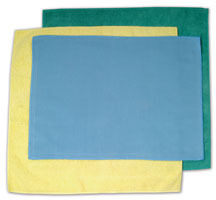 "Picture of item 966-055 a O'Dell Microfiber Dust Cloth. 12"" x 16."" Blue. Woven. General purpose use."