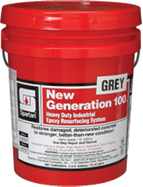Picture of item 966-693 a New Generation 100® Grey. 100% solids, low viscosity liquid epoxy. Solvent free. No vapor. No VOC. Very low odor. No thinning needed. Water free. 5 gallon pail.