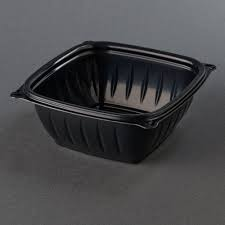 PresentaBowls® Plastic Bowls.  12 oz.  Black Color.