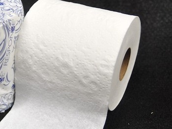 "Picture of item 887-910 a Response Toilet Tissue. 2 ply. 500 sheets/roll. 4"" x 3.25"". Individually wrapped. 96 rolls/cs."