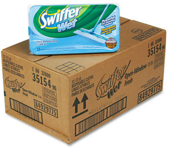 Picture of item 973-647 a Swiffer® Wet Cloth Refills.  12 Wipes/Box.
