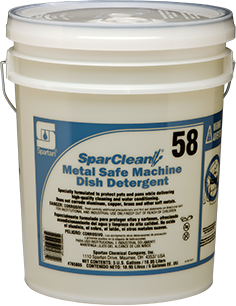 Picture of item 966-819 a SparClean® Metal Safe Machine Dish Detergent.  5 Gallon Pail.