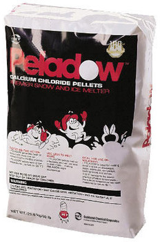 Picture of item 625-104 a Peladow™ Calcium Chloride Pellets.  Premier Snow and Ice Melter.  50 lb. Bag.