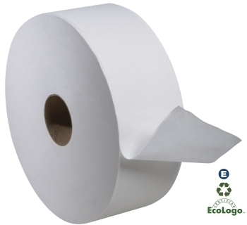 "Picture of item 969-636 a Tork Advanced Jumbo Bath Tissue.  2-Ply. 10 inch Diameter.  3.6"" x 1,600 Feet."