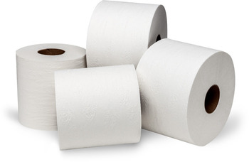"Picture of item 887-622 a Dubl-Nature® Green Seal™ Controlled-Use OptiCore™ Bath Tissue.  3-3/4"" x 4"".  2-Ply.  865 Sheets/Roll."