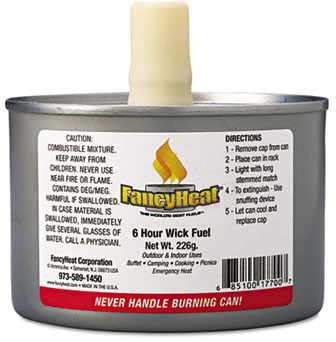 Picture of item 966-026 a Fancy Heat® Liquid Chafing Fuel.  8 oz.  4 to 6 Hour Burn.