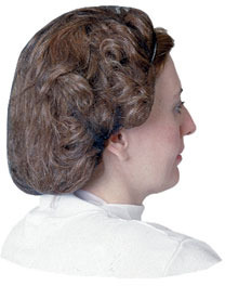 Picture of item 966-192 a Impact® Honeycomb Hair Net.  Nylon.  Large Size.  Black Color.