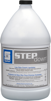 Picture of item H882-240 a Step Down® Low Odor Finish Liquidator.  Wax Stripper.  1 Gallon.