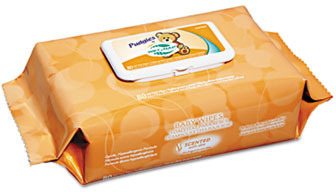 Picture of item 972-137 a Nice Pak® Pudgies® Baby Wipes.  80 Wipes/Package.