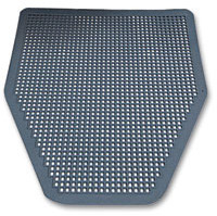 Picture of item IMP-1525 a Impact® Disposable Urinal Floor Mat, Nonslip, Green Apple Scent, Gray, 6/Carton