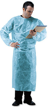 Picture of item IMP-1540 a Impact® Isolation Gown, Spun-Bonded Polypropylene, Blue, 50/Carton