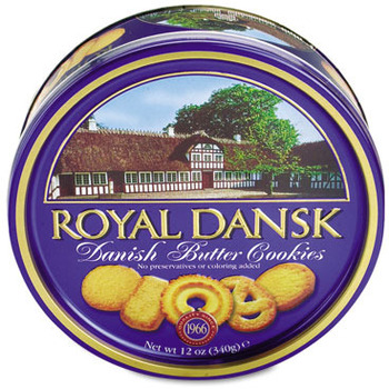 Picture of item OFX-53005 a Royal Dansk Cookies, Danish Butter, 12oz Tin