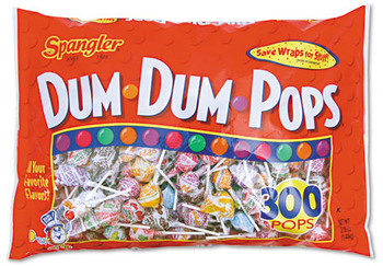 Picture of item SPA-60 a Spangler® Dum-Dum-Pops, Assorted Flavors, Individually Wrapped, 300/Pack