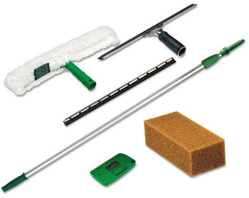 Picture of item 968-413 a Unger® Pro Window Cleaning Kitw/8ft Pole, Scrubber, Squeegee, Scraper, Sponge