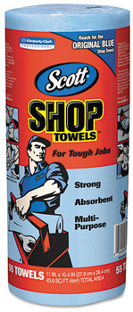 Scott® Shop Towels. 10.4 X 11 in. Blue. 12 rolls.