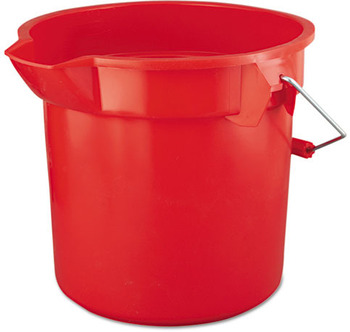Picture of item RCP-2614RED a Rubbermaid® Commercial BRUTE® Round Utility Pail, 14qt, Red
