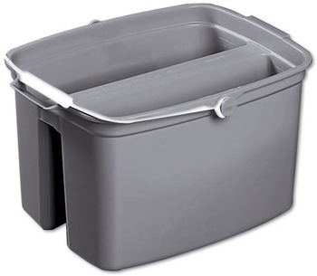Picture of item RCP-2617GRA a Rubbermaid® Commercial Double Utility Pail, 17qt, Gray