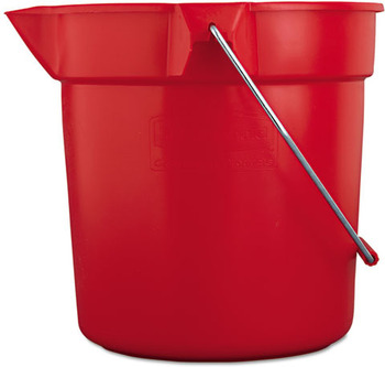 Picture of item RCP-2963RED a Rubbermaid® Commercial BRUTE® Round Utility Pail, 10qt, Red