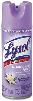 Picture of item RAC-80833 a LYSOL® Brand Disinfectant Spray, Early Morning Breeze, 12.5oz Aerosol Can.