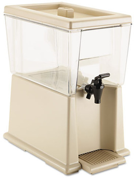Rubbermaid® Commercial Beverage Dispenser, Polycarbonate, 3gal, Clear