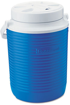 Rubbermaid® Victory™ Jug, 1gal, 8.3 dia x 10.98h, Blue/White
