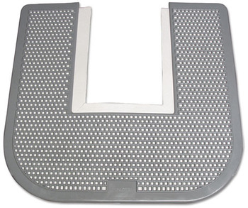 Picture of item IMP-1550 a Impact® Disposable Urinal Floor Mat, Nonslip, Orchard Zing Scent, 23 x 21-5/8, Gray