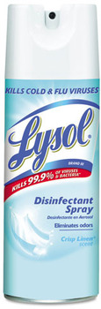 Picture of item RAC-74186 a LYSOL® Brand III Disinfectant Spray, Crisp Linen, 12 oz Aerosol Can.